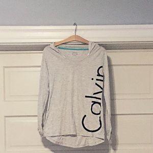 Calvin Klein Lightweight Grey Performance Hoodie